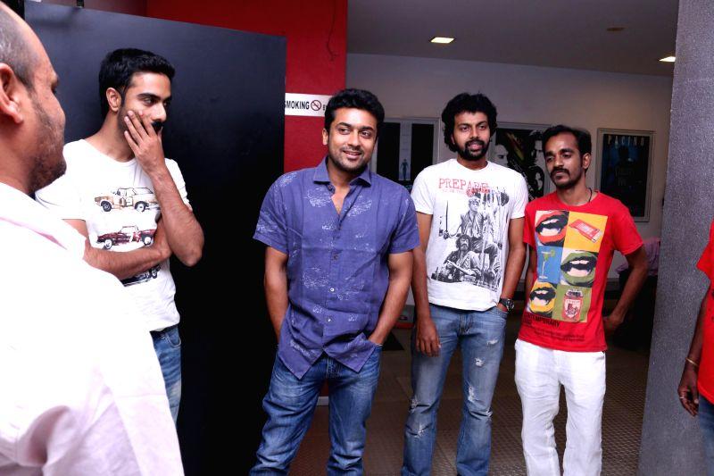Actor Surya at the Rajathandhiram Premiere Show.