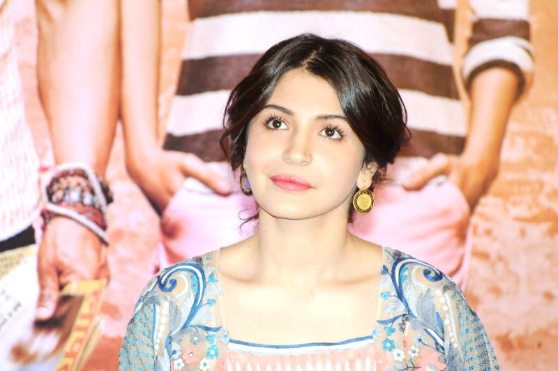 Actress Anushka Sharma during their upcoming film PK  press meet in Chennai  on Dec 10, 2014.