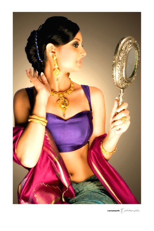 Actress Bhanu Sri Mehra during a photo shoot.