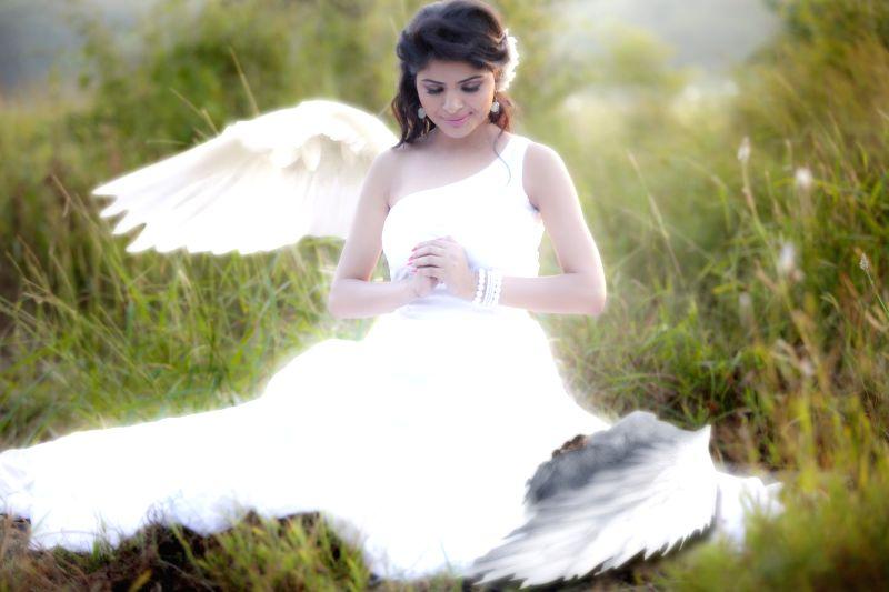 Actress Gehana Vasisth during the photo shoot.