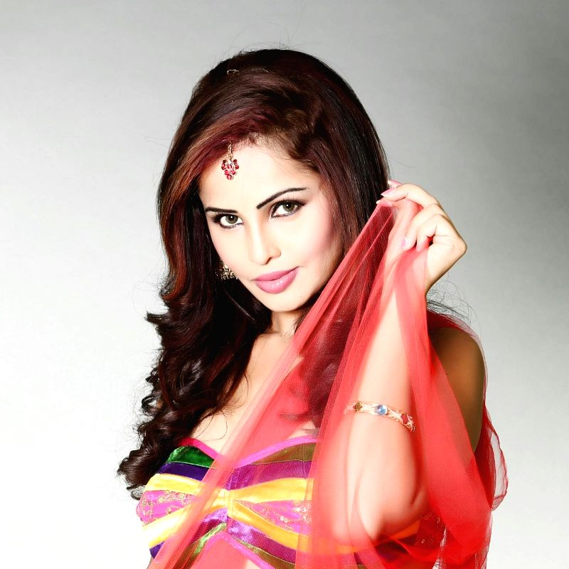 Actress Hashika Dutt poses during a photo shoot.