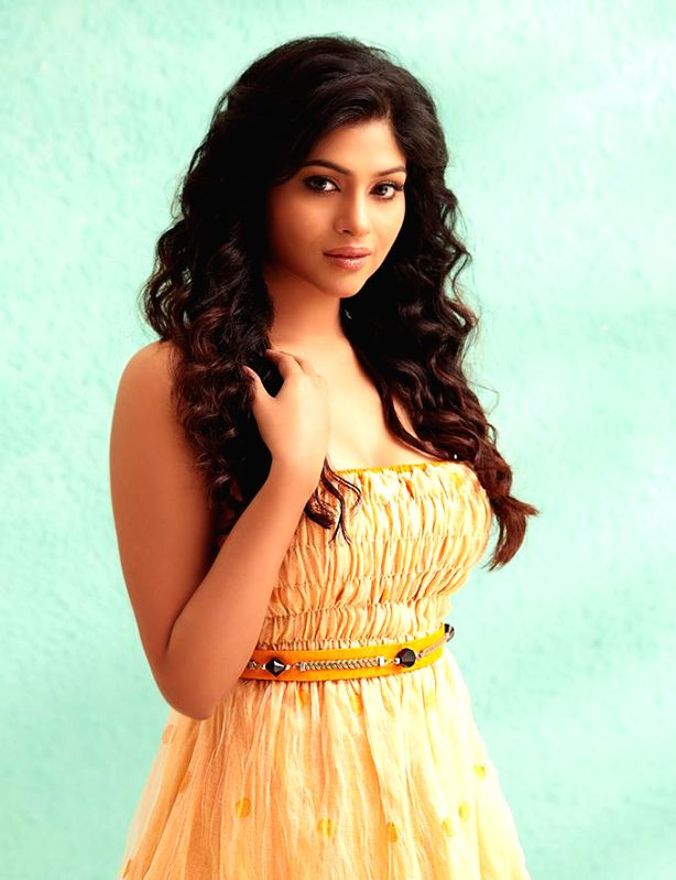 Actress Lakshmi Devy poses during a photo shoot.