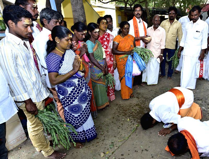 "Amid raging controversy over ""ghar wapsi"", nine persons, including three couples, were reconverted to Hindu religion after being Christians for over a decade at a brief ceremony in"
