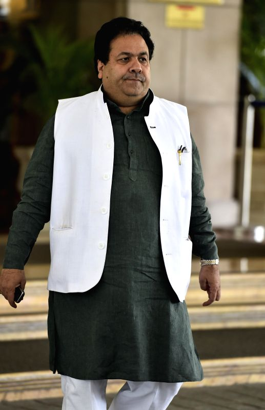BCCI vice president Rajeev Shukla arrives to attend a working committee meeting in Chennai on Nov 18, 2014.