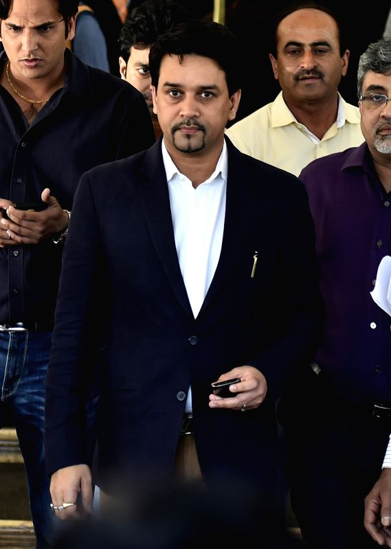 BJP MP Anurag Thakur, who was elected as the secretary of Board of Control for Cricket in India (BCCI) during its annual general meeting (AGM) in Chennai, on March 2, 2015.