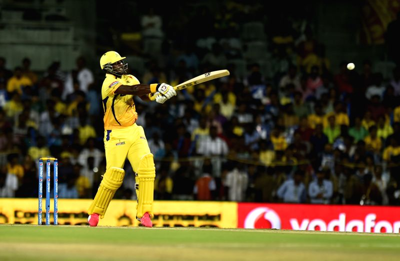 : Chennai Super Kings batsman Dwayne Smith in action during an IPL-2015 match between Chennai Super Kings and Delhi Daredevils at MA Chidambaram Stadium, in Chennai, on April 9, 2015. - Dwayne Smith