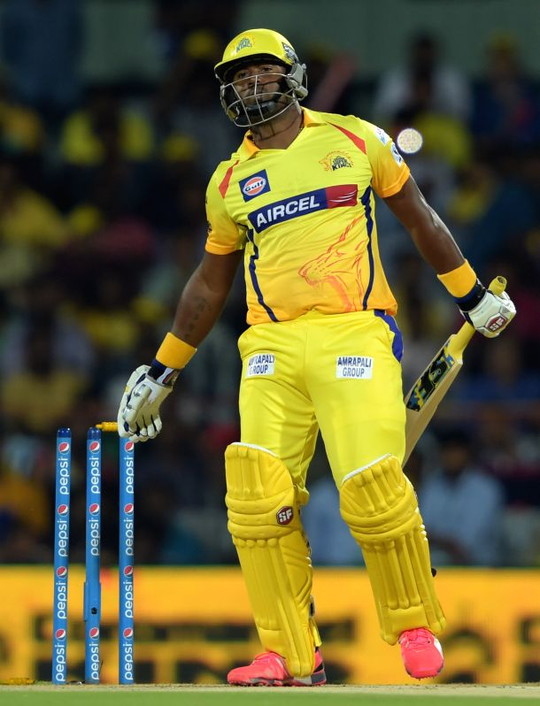 Chennai Super Kings batsman Dwayne Smith  ​during an IPL-2015 match between Chennai Super Kings and ​Kings XI Punjab at MA Chidambaram Stadium, in Chennai, on April 25, 2015. - Dwayne Smith