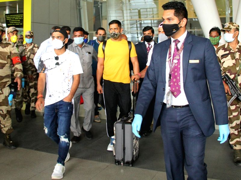Chennai: Chennai Super Kings captain MS Dhoni arrives in Chennai for a one-week training camp ahead of the 2020 edition of the Indian Premier League, on Aug 14, 2020. Dhoni has tested negative for COVID-19 after he underwent the mandatory test before