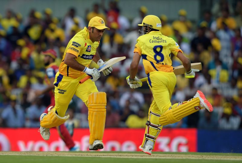 Chennai Super Kings captain MS Dhoni in action during an IPL 2015 match between Chennai Super Kings and Royal Challengers Bangalore at M. A. Chidambaram Stadium in Chennai on May 4, 2015. - MS Dhoni