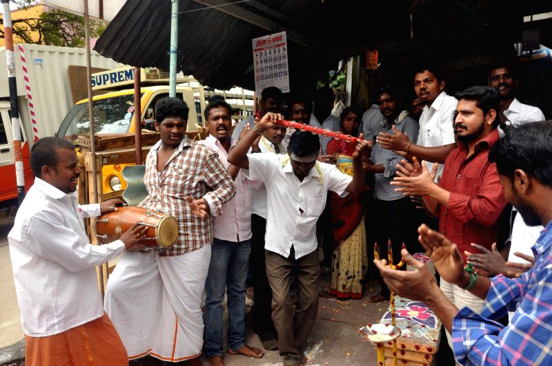 Christians convert to Hinduism during a ceremony in Chennai, on Feb 27, 2015.