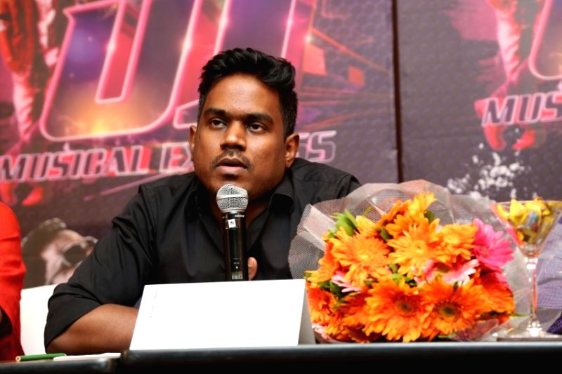 Composer Yuvan Shankar Raja during a press conference in Chennai on March 30, 2015.