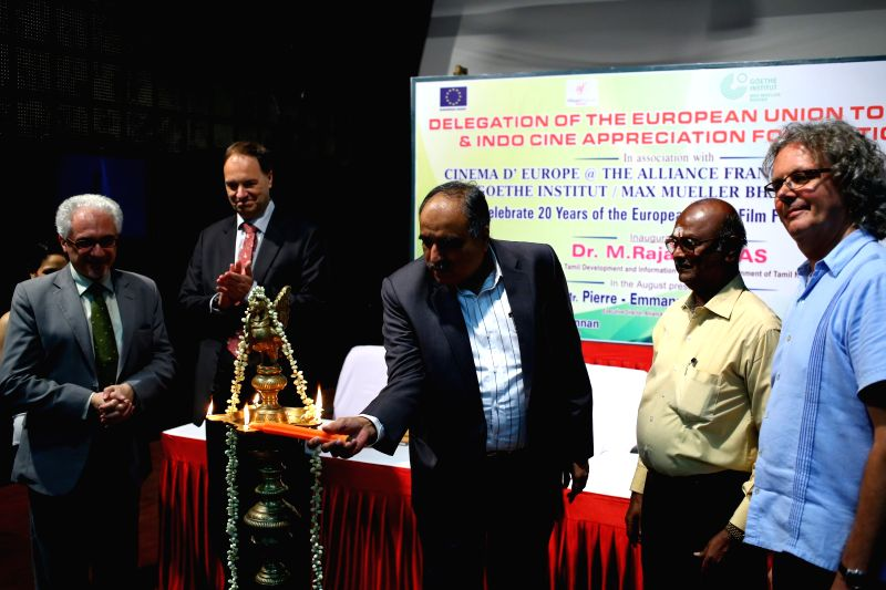 Delegation of the European Union during the inauguration of 20th European Union Film Festival in Chennai on April 1, 2015.