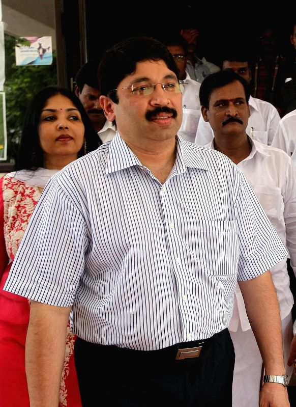 Chennai: Former telecom minister Dayanidhi Maran, who was Wednesday summoned by a special court hearing the Aircel-Marxis deal, as part of the larger 2G spectrum allocation case, to appear before it March 2. (File Photo: IANS)