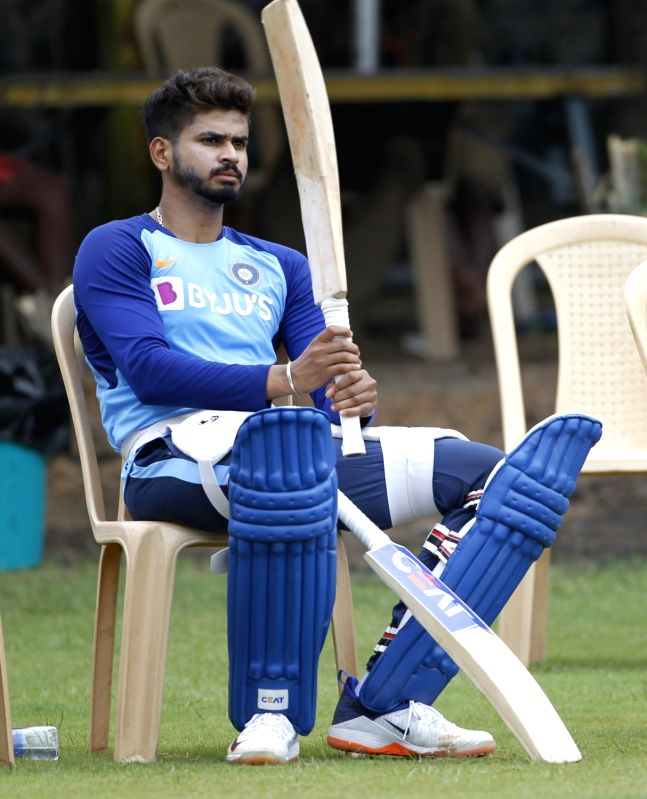 Chennai: India's Shreyas Iyer during a practice session ahead of the 1st one-day international (ODI) match against West Indies, at MA Chidambaram Stadium in Chennai on Dec 13, 2019. (Photo: Surjeet Yadav/IANS)
