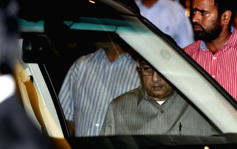 International Cricket Council (ICC) chairman N Srinivasan leaves after attending BCCI Working Committee Meeting in Chennai, on Nov 18, 2014.