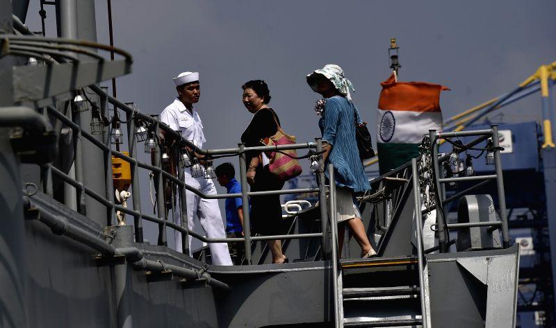 Korean Navy ships at Chennai Port Trust in Chennai on Nov. 15, 2014.