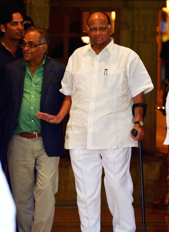 NCP chief Sharad Pawar comes out after attending the 85th annual general meeting (AGM) of Board of Control for Cricket in India (BCCI) in Chennai, on March 2, 2015.