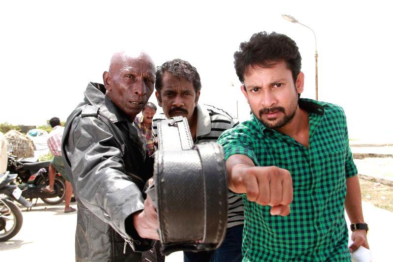 Press meet from upcoming Tamil film `Ivannukku Thannila Gandam`.
