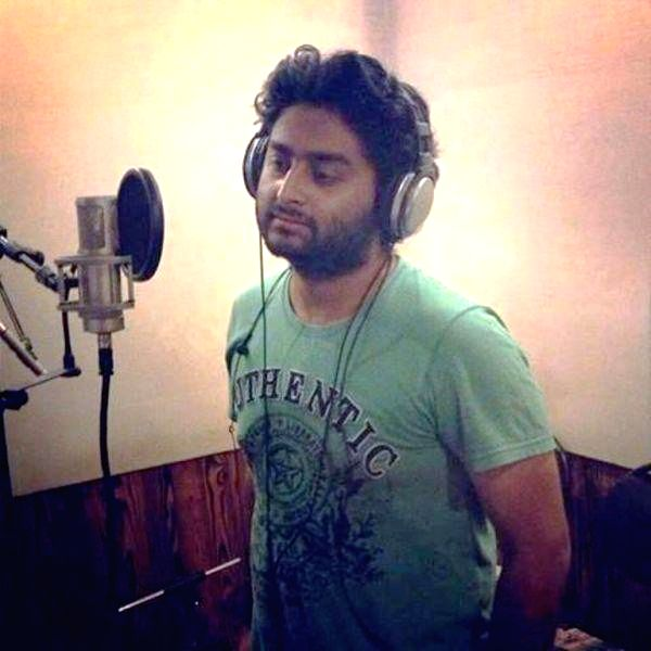Singer Arijit Singh records a song for his upcoming Tamil film `Pugazh`. - Arijit Singh