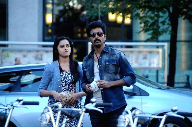 Stills from Tamil film `kakki sattai`.