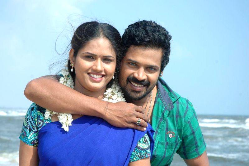 Stills from Tamil film `Kalakattam Press Meet`.