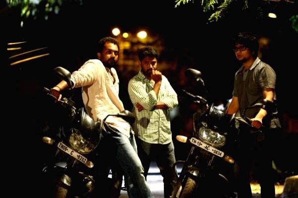 Stills from Tamil film `Kallappadam`.