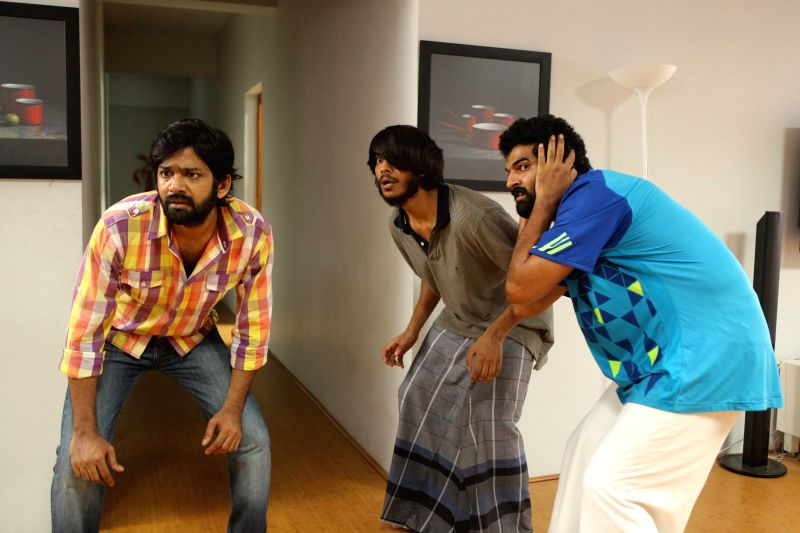 Stills from Tamil film `Pisaasu`.