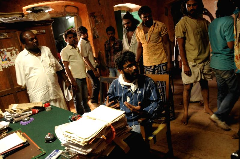 Stills from tamil film ``Porkkuthirai`.