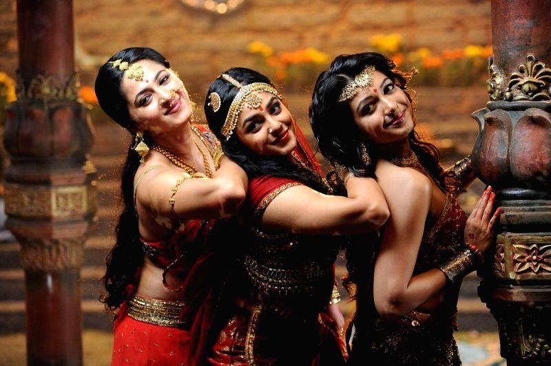 Stills from Tamil film `Rudramadevi`.