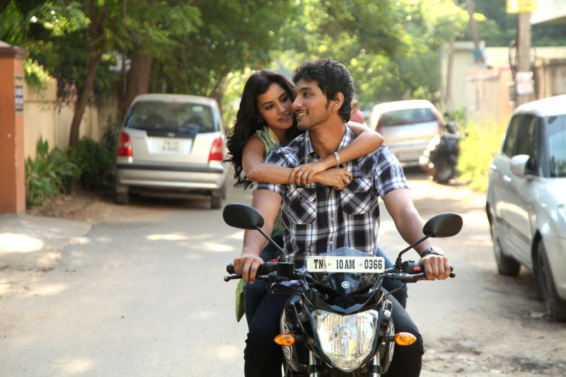 Stills from Tamil film `Vai Raja Vai`.