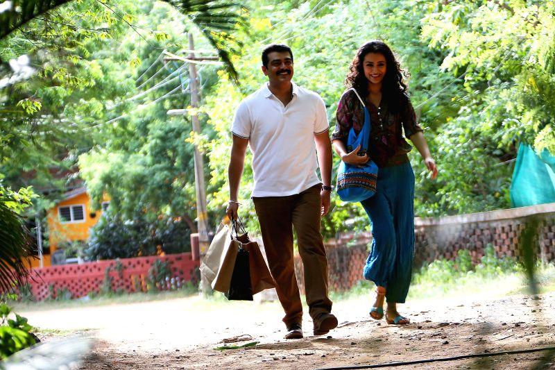 Stills from Tamil film `Yennai Arindhaal`.