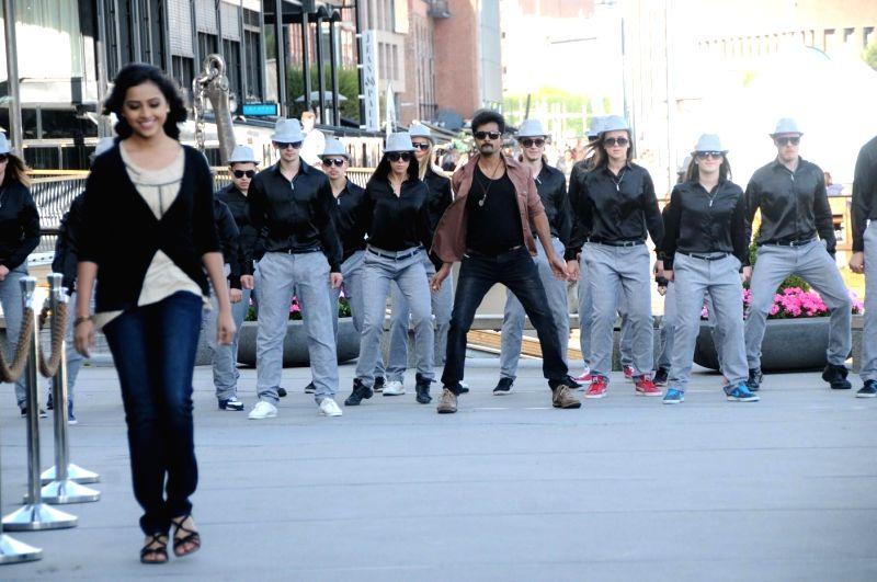 Stills from upcoming Tamil film `Kaakki Sattai`.