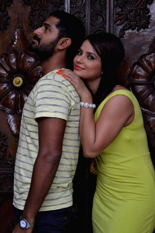 Stills of actors Neetu Chandra and Dhruva from Tamil film `Thilagar`. - Neetu Chandra and Dhruva