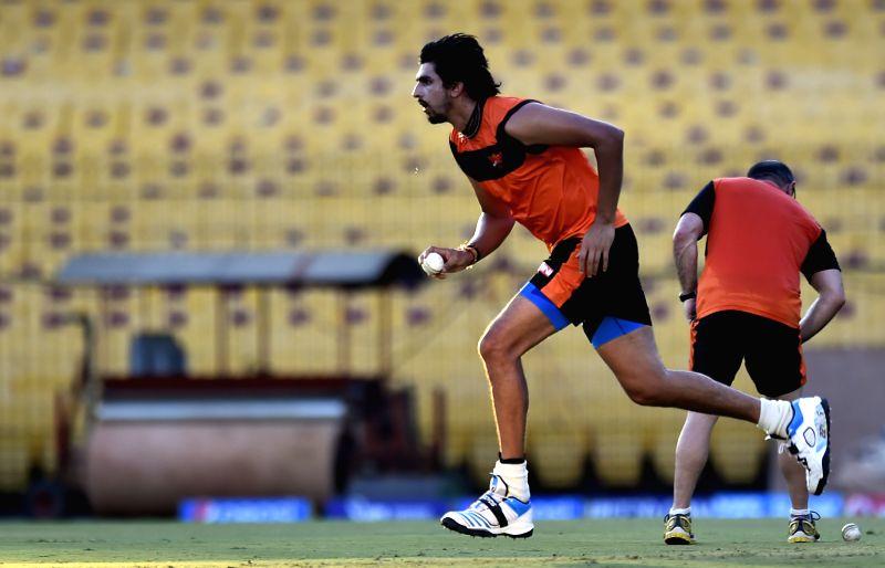 Sunrisers Hyderabad (SRH) player Ishant Sharma during a practice session at the M A Chidambaram Stadium in Chennai, on April 10, 2015. - Ishant Sharma
