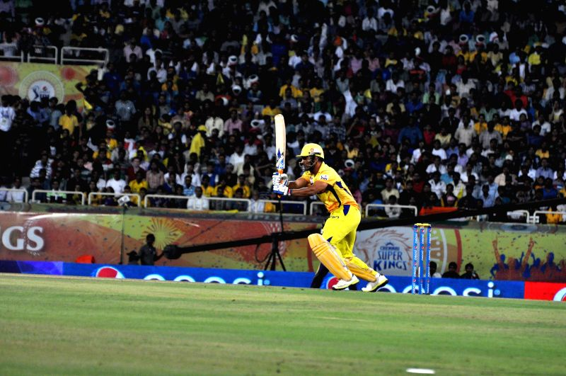 Chennai Super Kings captain MS Dhoni in action during the 21st match of IPL 2014 between Kolkata Knight Riders and Chennai Super Kings, played at JSCA International Stadium Complex in Ranchi on May .. - MS Dhoni