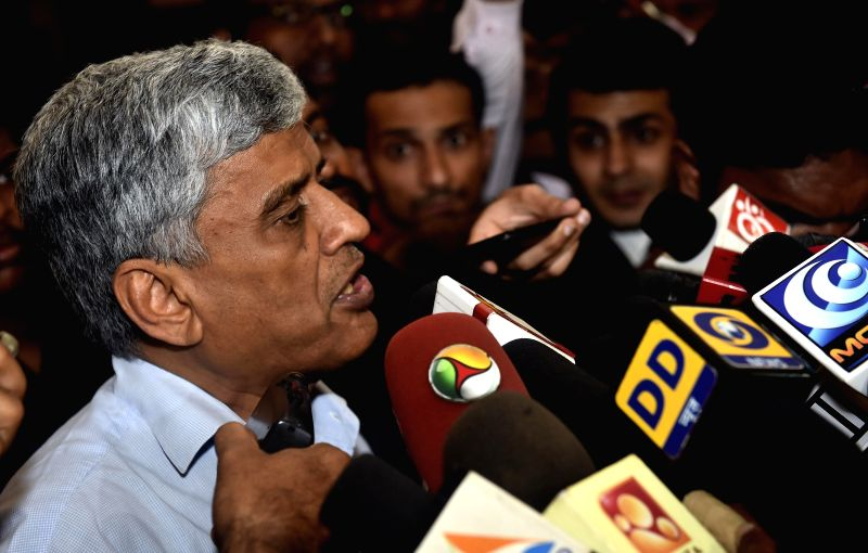 The BCCI secretary Sanjay Patel interacts with press after attending BCCI Working Committee Meeting in Chennai, on Nov 18, 2014. - Sanjay Patel