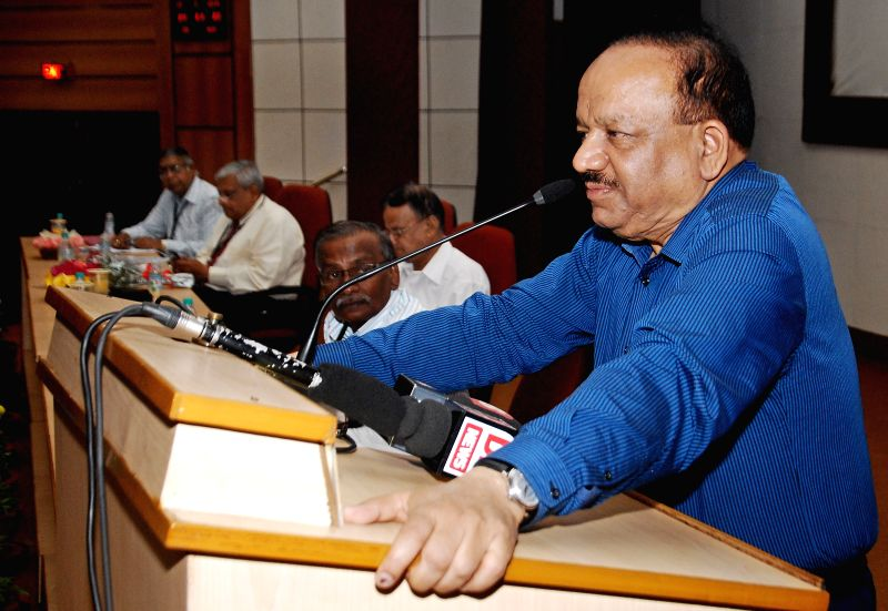 Union Minister for Science and Technology, and Earth Sciences, Dr. Harsh Vardhan addresses during a function at CSIR-Structural Engineering Research Centre, in Chennai on March 23, 2015.