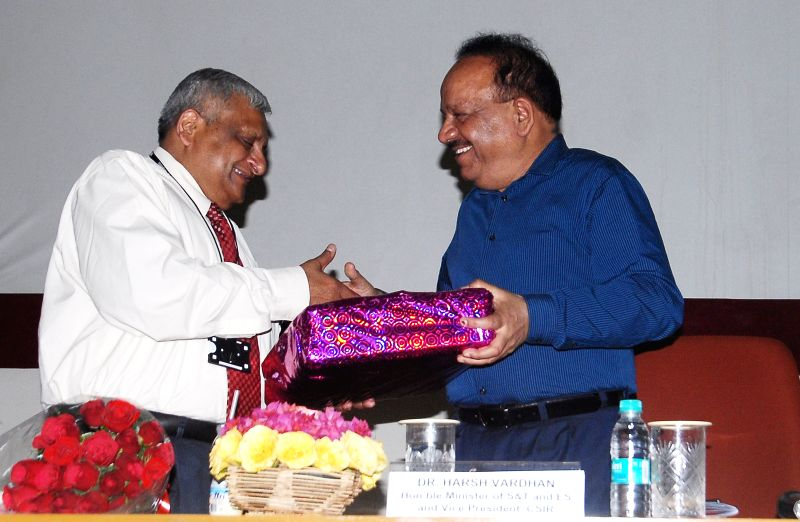 Union Minister for Science and Technology, and Earth Sciences, Dr. Harsh Vardhan during a function at CSIR-Structural Engineering Research Centre, in Chennai on March 23, 2015.