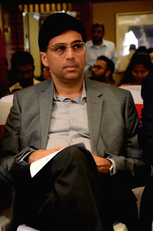 Chess player and Fincare Small Finance Bank (Fincare SFB) Brand Ambassador Viswanathan Anand during a progrmme, in Mumbai on July 18, 2018.