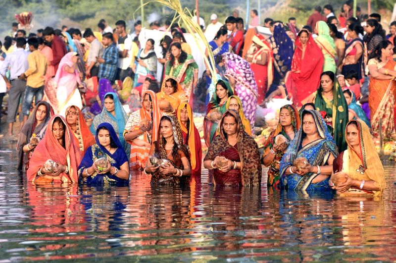 Chhath Puja rituals underway in Ahmedabad