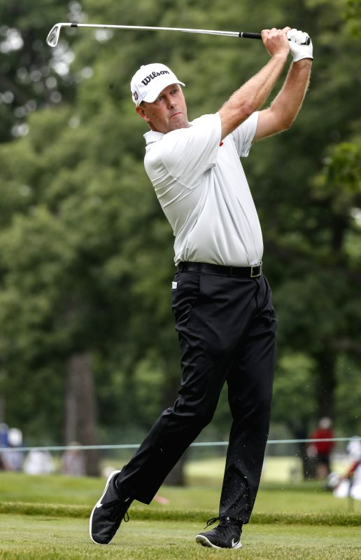 CHICAGO , July 15, 2018 - Mike Small of the United States competes during the third round of Constellation Senior Players Championship golf tournament at Exmoor Country Club on the PGA Tour Champions ...