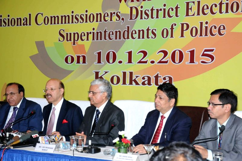 Chief Election Commissioner of India Nasim Zaidi during a review meeting in Kolkata, on Dec 10, 2015.