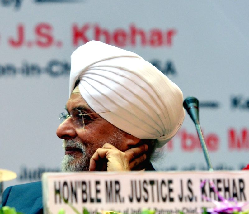 """Chief Justice of India Justice Jagdish Singh Khehar during the National Meet of Para Legal Volunteers """"Soilders of Legal Services Institutions at Grassroots"""" organised by ... - Jagdish Singh Khehar"""