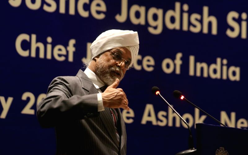Chief Justice of India Justice Jagdish Singh Khehar addresses at the Competition Commission of India Annual Day Lecture 2017 in New Delhi on May 20, 2017. - Jagdish Singh Khehar