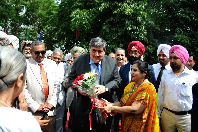 Chief Justice of Punjab and Haryana High Court Sanjay Kishan Kaul along with others during the inaugural ceremony of Alternative Disputes Resolution Centre at District Courts in Amritsar on July 5, ..