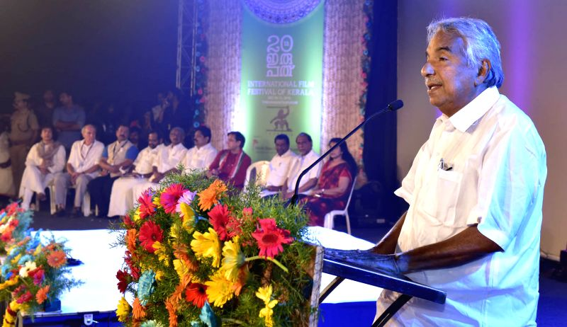 Chief Minister Oommen Chandy speaking at the inaugural event. - Oommen Chandy