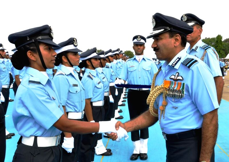 Chief of the Air Staff, Air Chief Marshal Arup Raha during the Graduation Parade at Air Force Academy, Dundigal, in Hyderabad on June 21, 2014.
