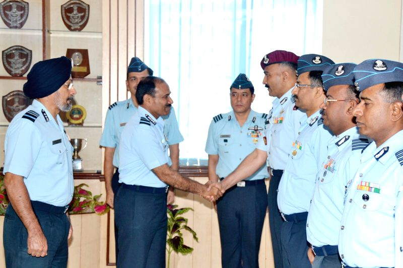 Chief of the Air Staff (CAS) Air Chief Marshal  Arup Raha during 2-day Station Commanders Conference of the Training Command at the Headquarters Training Command in Bangalore on May 15, 2014.