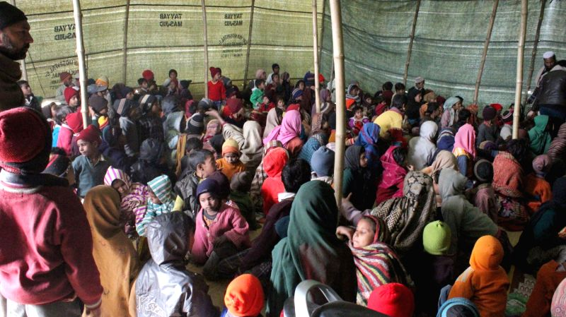 Where a tarpaulin cover is home: Visiting the riot displaced