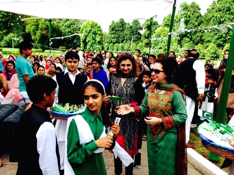 Children during Pakistani Independence Day celebrations at Pakistan High Commission in New Delhi on Aug 14, 2014.
